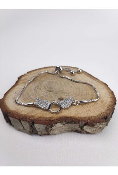 Markamindirim Gümüş Renk Nişan Yüzüğü Taşlı Kadın Bileklik