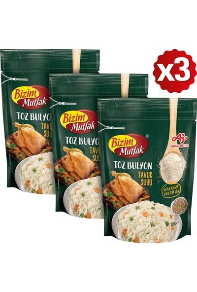 Bizim Mutfak Toz Tavuk Suyu Bulyon 150 gr x 3'lü Paket