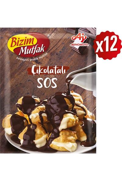 Bizim Mutfak Çikolatalı Sos 128 gr 12'li Paket