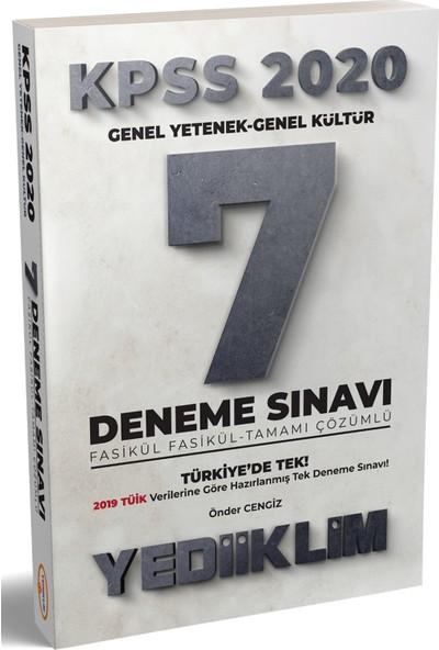 Yediiklim Yayınları 2020 KPSS Fasikül Fasikül Tamamı Çözümlü 7 Deneme Sınavı