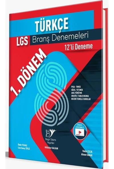 Beyin Takımı Yayınları 8. Sınıf LGS 1. Dönem Türkçe 12'li Branş Denemeleri