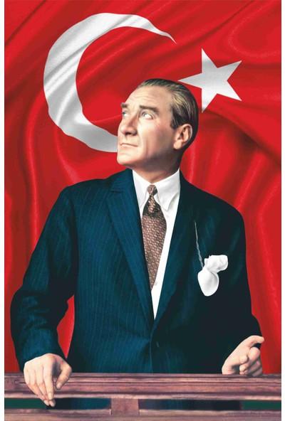 Desen Bayrak Atatürk Posteri 200 x 300 cm