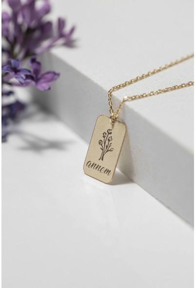 Mithra Jewelry Gümüş Kolye Gold