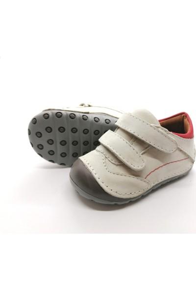 Arulens Anatomik Doğal Deri Spor Bej Çocuk Ayakkabı