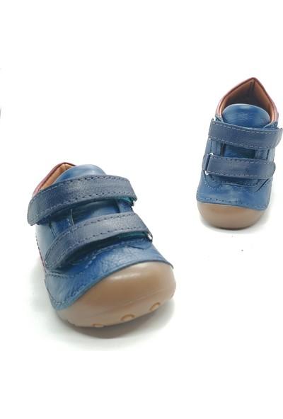 Arulens Anatomik Doğal Deri Spor Mavi Çocuk Ayakkabı