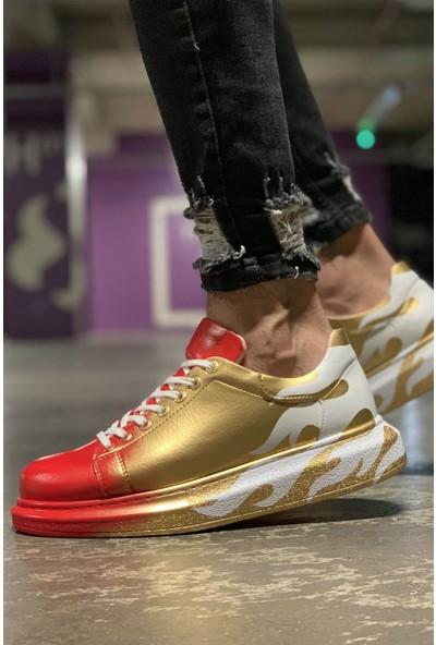Chekich Ch254 Bt Erkek Ayakkabı 413 Alv Kırmızı / Altın