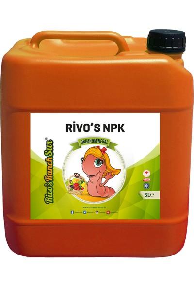 Rivasol Npk'lı Sıvı Organomineral Gübre 5 lt