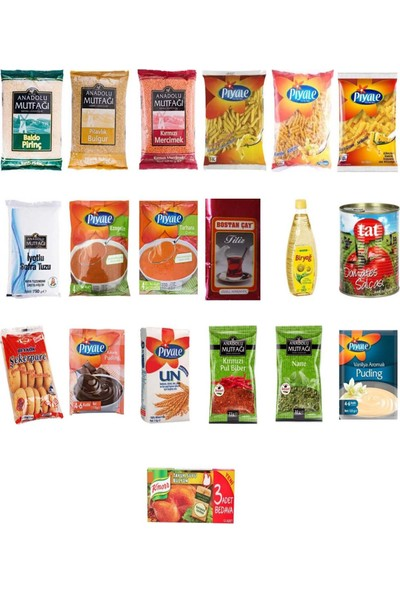 Blueden Ramazan Paketi Ramazan Kumanya Yardım Erzak Kolisi 19 Parça 12 Nolu Paket