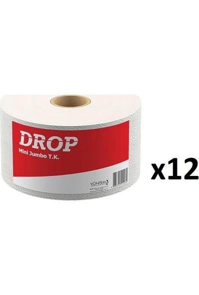 Drop Mini Jumbo Alttan Çekme Tuvalet Kağıdı 12'li Rulo / Koli