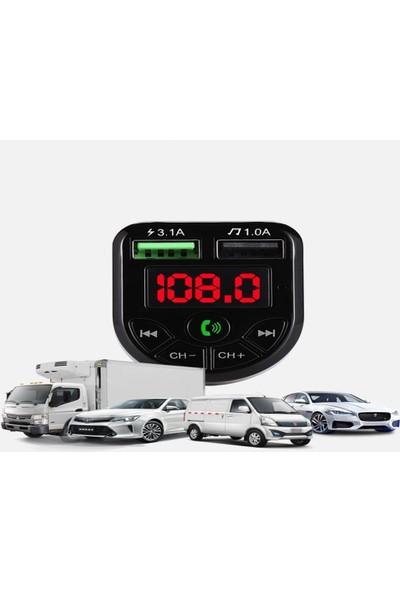 Nivagatore Car X8 Araç Fm Transmitter BT/USB/MP3/SD Kart Çakmaklık Girişli Kablosuz Oto Müzik Çalar Kiti