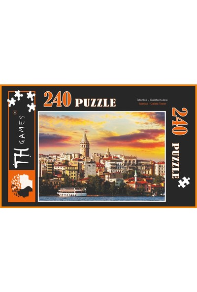 TH Games 240 Parça Puzzle Galata Kulesi