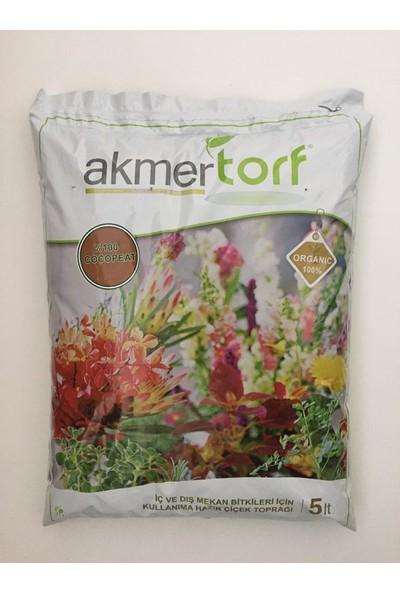 Akmer Kullanıma Hazır Çiçek Toprağı Beyaz 2'li 10 lt