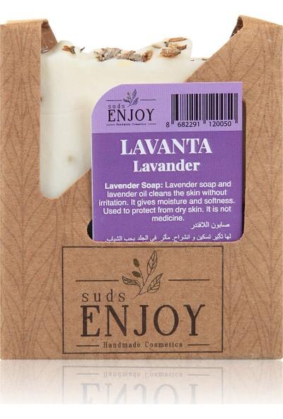 Suds Enjoy Doğal Lavanta El Yapımı Yüz, Saç ve Vücut Sabunu 100 gr