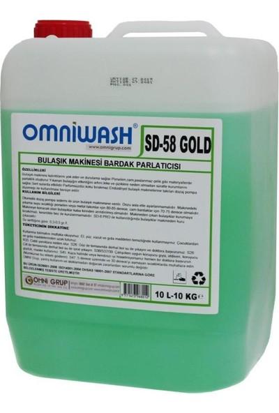 Omniwash SD57 ve SD58 Gold Bardak Yıkama Deterjanı ve Parlatıcısı