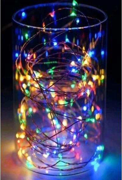 Onetick Peri LED Pilli 100 LED Süs Rgb Mix 10 M