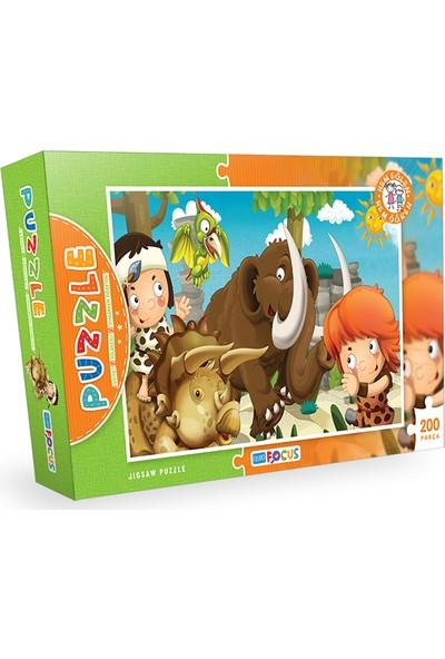 Blue Focus 200 Parça Puzzle - Dino ve Mamut