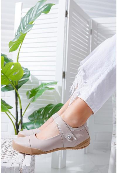 Limoya Addisyn Ten Hakiki Deri Comfort Sandalet