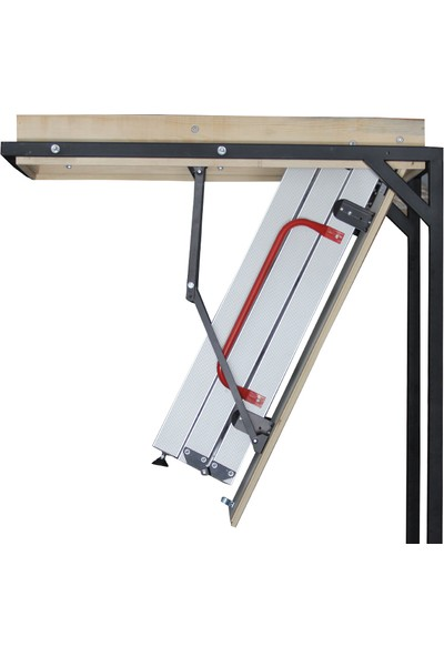2mm Ahşap Alüminyum Katlanır Çatı Merdiveni 60 x 110 cm