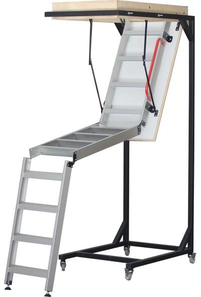 2mm Ahşap Alüminyum Katlanır Çatı Merdiveni 70 x 120 cm