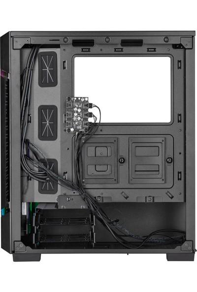 Corsair Icue 220T Airflow Midi Tower ATX Bilgisayar Kasası Siyah(PSU Yok)