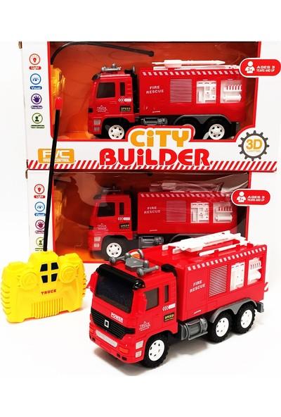 Pasifik Toys City Builder İş Makineleri Uzaktan Kumandalı Itfaiye Kamyonu