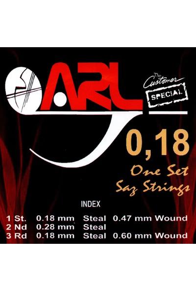 Arl Kısa Sap Bağlama Teli 0.18 1 Takım (7+1 String Set)