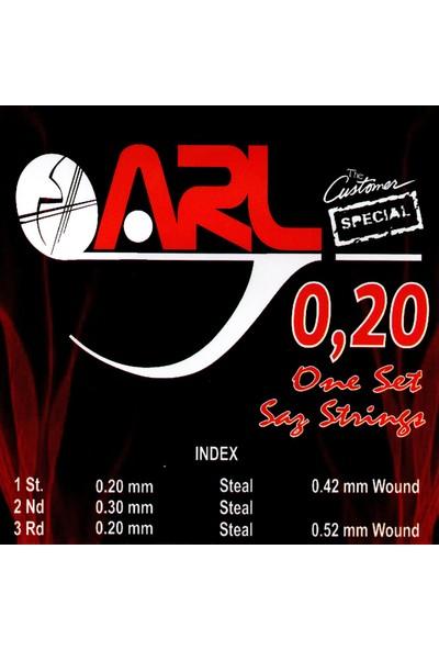 Arl Uzun Sap Bağlama Teli 0.20 1 Takım (7+1 String Set)
