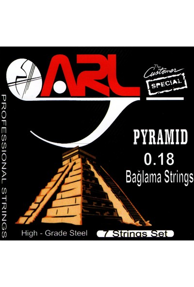 Arl Pyramid Kısa Sap Bağlama Teli 0.18 1 Takım (7 String Set )