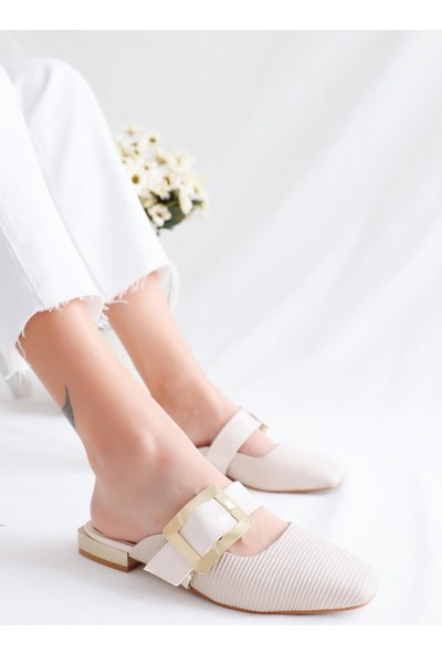 Limoya Mireya Kısa Topuklu Kemerli Sandalet