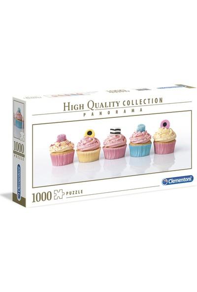 Clementoni - 1000 Parça High Quality Panorama Yetişkin Puzzle - Licorice Cupcakes