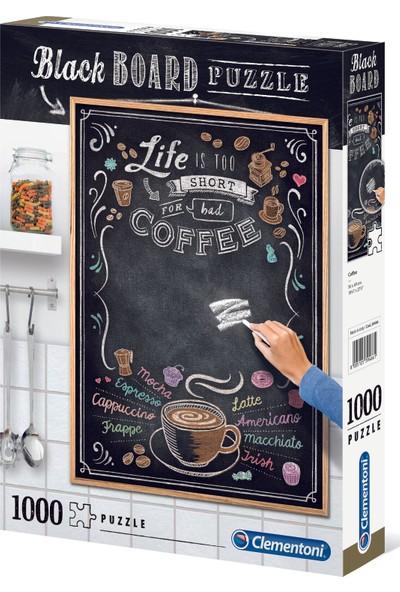 Clementoni - 1000 Parça Blackboard Yetişkin Puzzle - Coffee