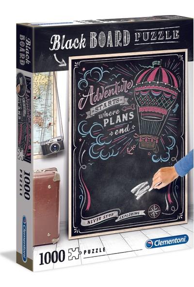 Clementoni - 1000 Parça Blackboard Yetişkin Puzzle - Travel