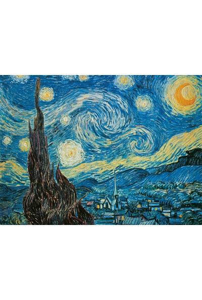 Clementoni - 500 Parça Museum Collection Yetişkin Puzzle - Stary Night - Van Gogh