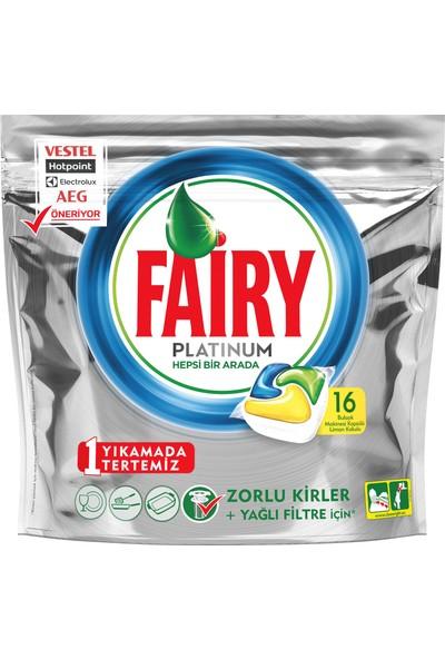 Fairy Platinum 16 Yıkama Bulaşık Makinesi Deterjanı Kapsülü Limon Kokulu