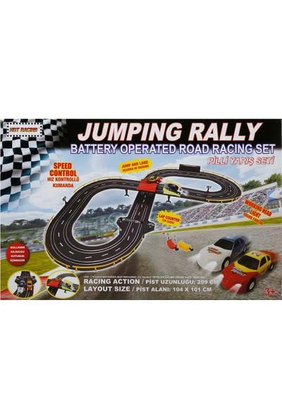 Hot Racing Jumping Rally Işıklı Yarış Seti