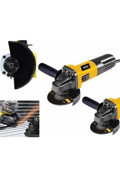 Mager Devir Ayarlı Avuç Içi Taşlama Spiral Makinası Magnezyum Isınmaz Başlık Sarı 1100 W 125 mm