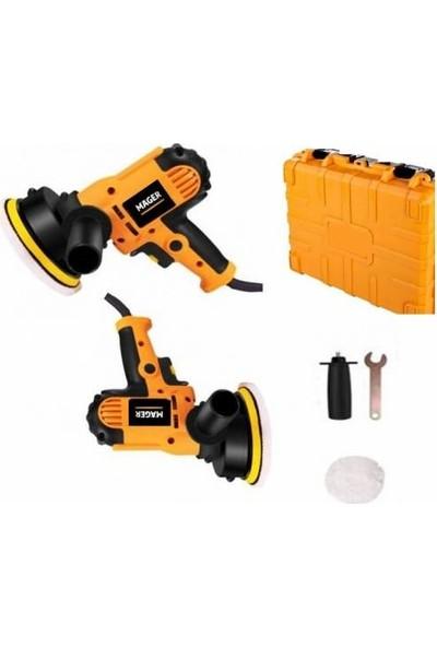 Mager Tam Professional Devir Ayarlı Özel Şık Sarı Çantalı Polisaj Makinası 1100 W 125 mm