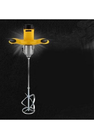 Mager Devir Ayarlı Elektirikli Alçı Boya ve Harç Karıştırıcı Mikser Sarı 2600 W