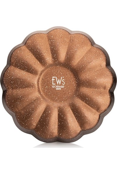EWS Bronz Renk 28 cm Papatya Kek Kalıbı