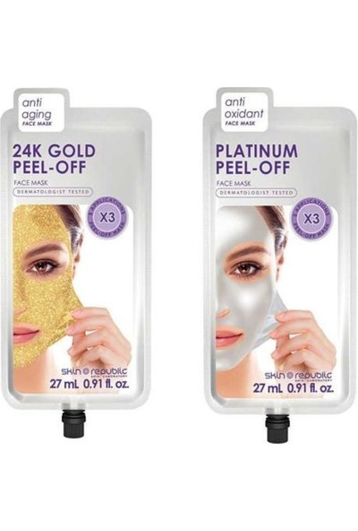 Skin Republic 24K Gold 27 Ml+ Platinium Pell- Off 27 ml