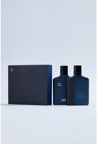 Zara Man Blue spirit + Zara Man Silver Edt 100 ml