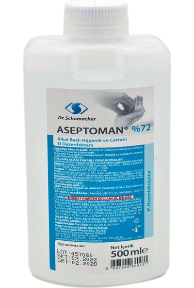 Dr. Schumacher Aseptoman %72 El Dezenfektanı 500 ml