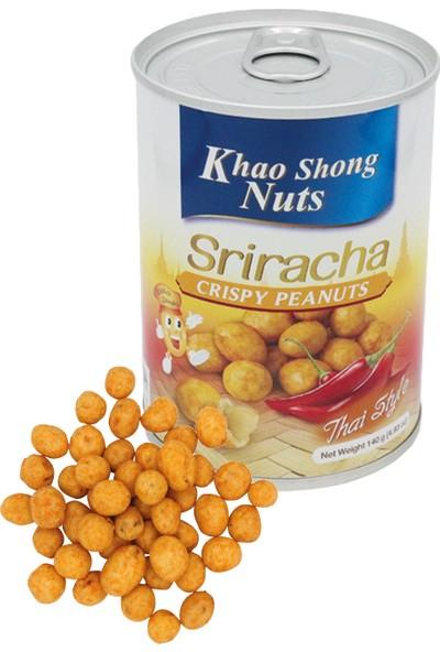 Khao Shong Atıştırmalık Paketi (Sriracha Acı Biber Soslu Çıtır Yer Fıstığı, Karışık Pirinç Kraker)