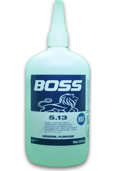 Boss 5.13 Süper Yapıştırıcı Şeffaf 500 gr