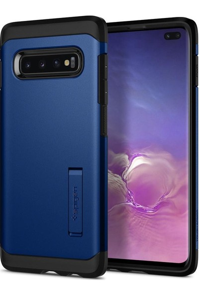 Spigen Samsung Galaxy S10 Plus Kılıf Tough Armor Prism Blue - 606CS26191