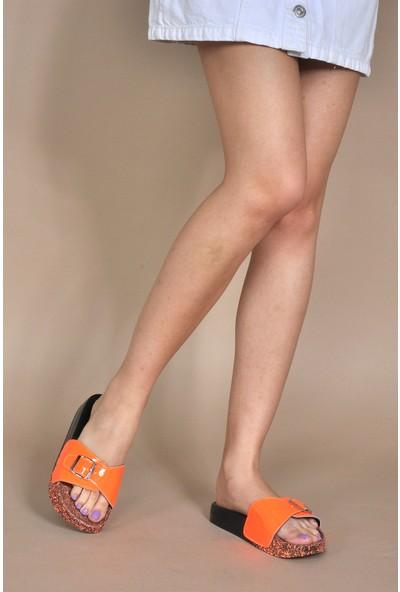 Vizon Kadın Neon-Turuncu Terlik VZN20-112Y