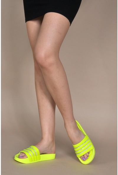 Vizon Kadın Neon-Sarı Terlik VZN20-114Y