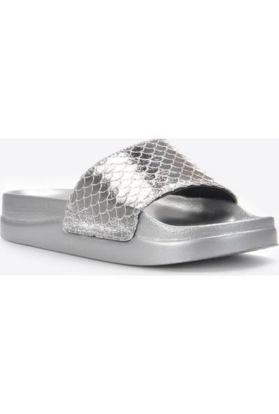 Vizon Kadın Gümüş Terlik VZN20-124Y