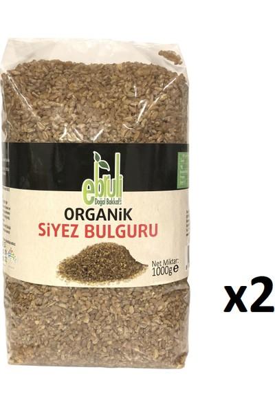 Ebruli Doğal Bakkal Organik Siyez Bulguru 1 kg x 2'li