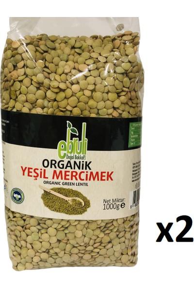Ebruli Doğal Bakkal Organik Yeşil Mercimek 1 kg x 2'li